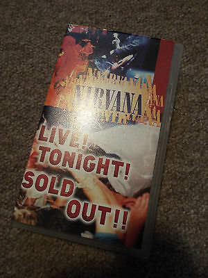 *VINTAGE* Nirvana LIVE TONIGHT SOLD OUT VHS with Insert- 1994 Geffen Kurt Cobain