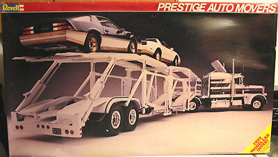 SEALED! Revell Prestige Auto Movers Peterbilt Truck & Trailer & 2 GM Cars #07432