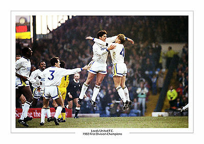 Gary Speed David Batty Leeds United First Division Champions A4 Print Photo Utd