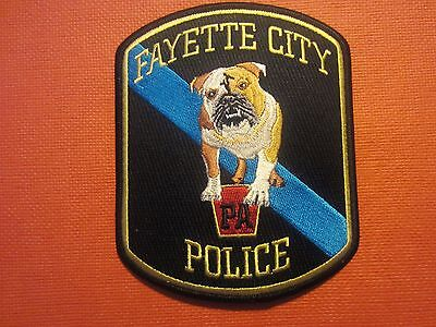 Collectible Pennsylvania Police Patch Fayette City New