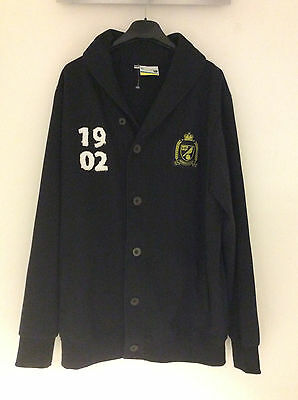 Mens Norwich City Football Club Button Up Fleece Top USED Size XXL
