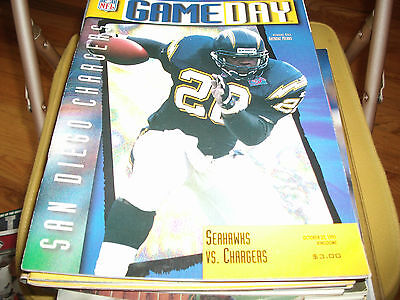 Seattle Seahawks Gameday Program Vs San Diego Chargers October 22 1995