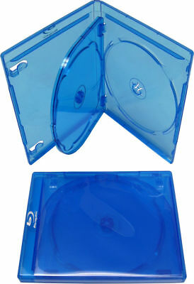 100 New Premium Blu ray Multi hold 3 Discs triple CD DVD cases, Standard 12mm, T