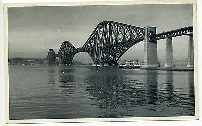 FORTH BRIDGE from South Queensferry, near Edinburgh  Old Postcard