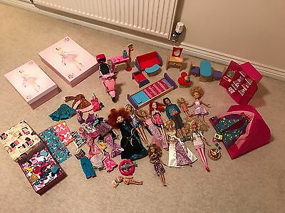 Barbie Dolls,furniture's,clothing And Accessories