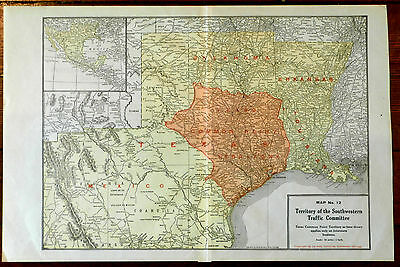 Map of Territory of the Southwestern Traffic Committee 1927 by Rand McNally