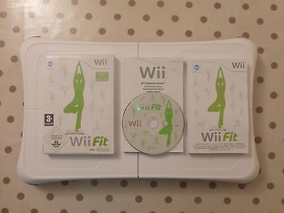 Official Nintendo Wii Fit Balance Board & Wii Fit Game with booklets FREE P+P