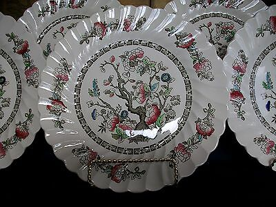 "Myott Staffordshire-Indian Tree-Dinner Plate(S)- 9 7/8""- Swirls- No Trim-Great!"