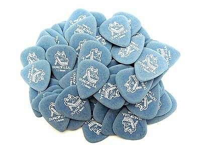 Dunlop Guitar Picks  Gator Grip  72 Picks  1.14mm  Blue  417R1.14