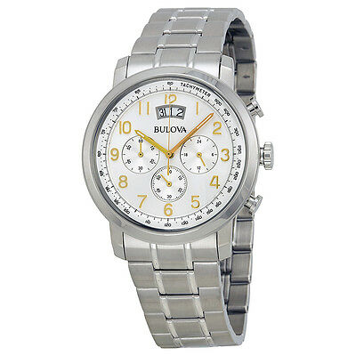 Bulova Men's 96B201 Marine Star Chronograph Silver Tone Stainless Steel Watch