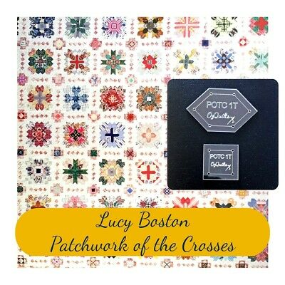 Lucy Boston: Patchwork Of The Crosses One Inch Patchwork Template Set