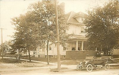 Shiny Vintage Touring Auto Parked At Curb~Doctor Home & Car~1915 Real Photo~RPPC