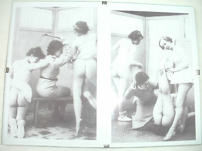 "2 Female Spanking Whipping Pictures in 8""x6"" Frame.Martinet.Fetish."