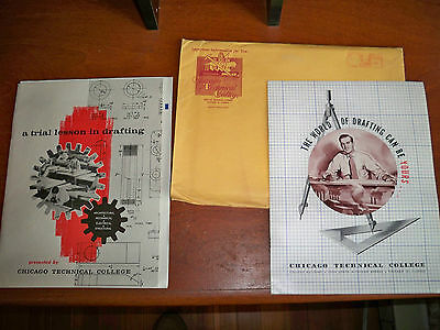 Chicago Technical College Correspondece Packet 1962 Booklets, letter, exam sheet