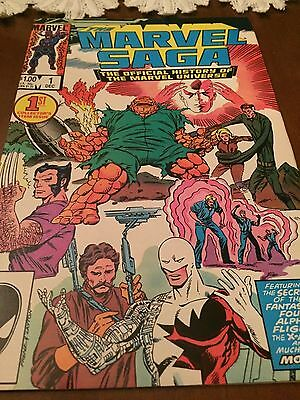 Marvel Saga # 1 The Official History of the Marvel Universe NM