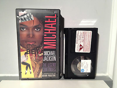 1988 Michael Jackson King Pop Legend Continues Rare BETA Movie Motown Thriller