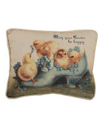 "NWT Bethany Lowe Designs ""Chicks In Shoe Pillow"" Perfect for Easter!"