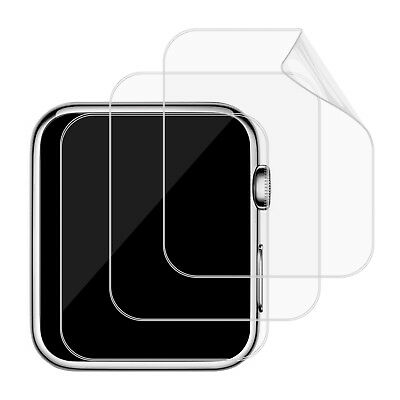 JETech 3-Pack Screen Protector for Apple Watch 42/38mm Series 1 2 3 TPE HD Film