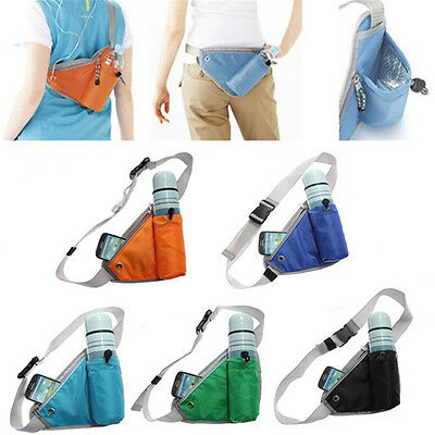 Unisex Belt Waist Bum Bags Running Hiking Fanny Pack MP3 Water Bottle Pouch Zip