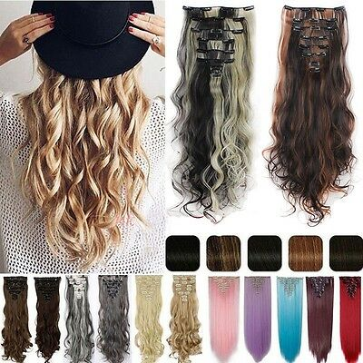 UK Mega Thick Double Weft Clip In Hair Extensions Real As Human Remy Brown Tn