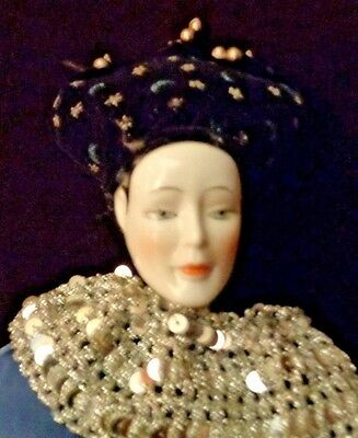 Harlequin Porcelain Mann Collectible Doll Vintage 1986 - Different and Stunning