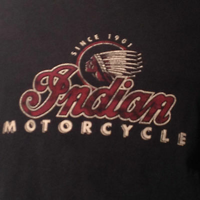 Indian Motorcycle Native American Chief Aboriginal Logo Since 1901 T Shirt XL