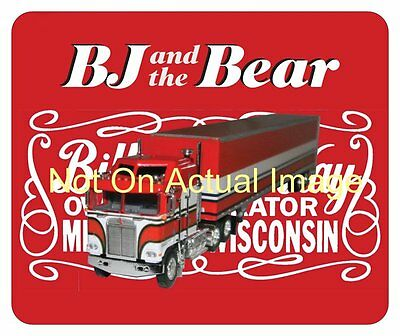 BJ And The Bear Mouse Pad Mousepad - Collectors Item - Greg Evigan - Kenworth