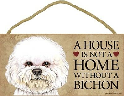 ***a House Is Not A Home Without A Bichon(Puppy) Wood Pet Sign/plaque***