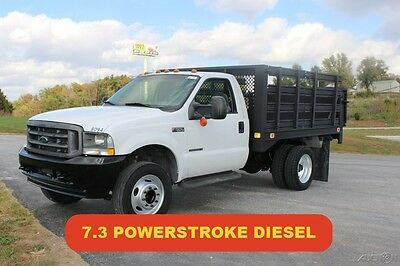 2002 Ford F550 Flatbed Liftgate 7.3 Powerstroke Diesel Used Low Miles Clean Nice