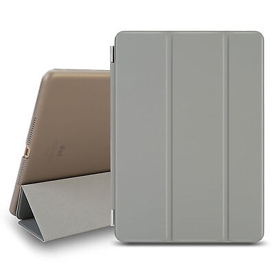 Gray Luxury Magnetic Smart Flip Cover Stand Wallet Leather Case For iPad air 2