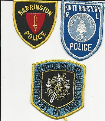 3 different  Rhode Island RI, Corrections, Barrington Police, S.Kingstown Police