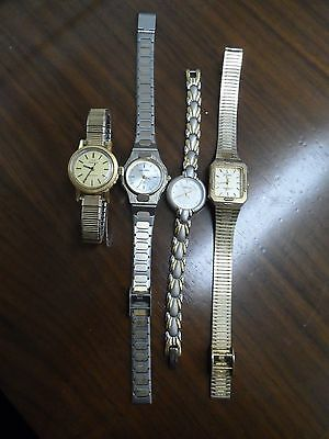 Lot of Assorted Ladies Quartz Watches (4) (some working/some not)