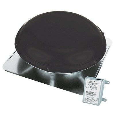 Air Vent 1,500-CFM Black Galvanized Steel Electric Power Roof Vent Attic Exhaust