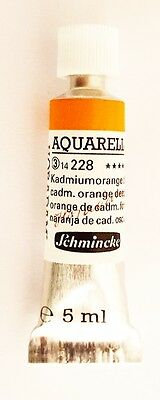 Schmincke 5Ml Watercolour Tube Cadmium Orange Deep Series 3 Artist Quality