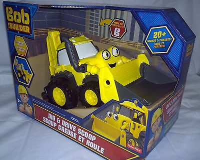 New FISHER-PRICE BOB THE BUILDER DIG & DRIVE SCOOP TOY VEHICLE TRACTOR & SOUNDS
