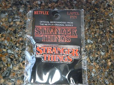Stranger Things Lapel Pin Logo Netflix Authentic Merch New in Plastic