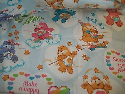 Vintage CARE BEARS Cartoon Character Twin/Full size Polyester Blanket/Comforter
