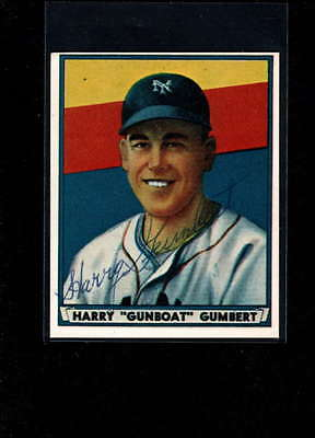 1941 Play Ball Reprint #26 Harry Gumbert Authentic On Card Autograph Signature A