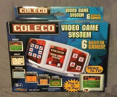 2005 Coleco Video Game System Plug N Play 6 Built in Games - New