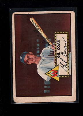 1952 Topps  #291 Gil Coan Authentic On Card Autograph Signature Ax1893