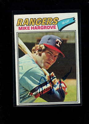 1977 Topps #275 Mike Hargrove Authentic On Card Autograph Signature Ax1994