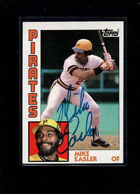 1984 Topps #589 Mike Easler Authentic On Card Autograph Signature Ax2021