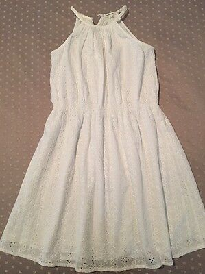Country Road - White Broderie Anglaise Sleeveless Dress - Girls Size 12