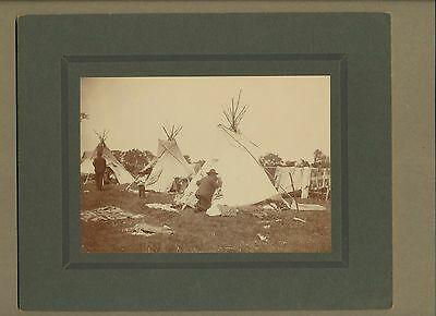 ORIGINAL ROLAND REED NATIVE AMERICAN INDIAN PHOTO~EARLY 1900's ~TEEPEE & BLANKET