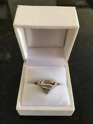 Sterling Silver Superman Ring BNIB