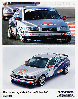 The Uk Racing Debut For The Volvo S60, Two Colour View On Same Sheet Photograph