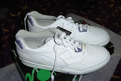 Pair of Diadora White Tennis Shoes