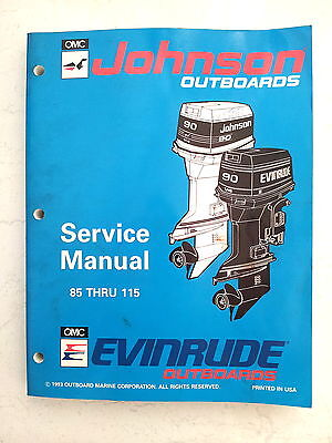 Evinrude Johnson Service Manual 1994 85 88 90 100 112 115 Hp