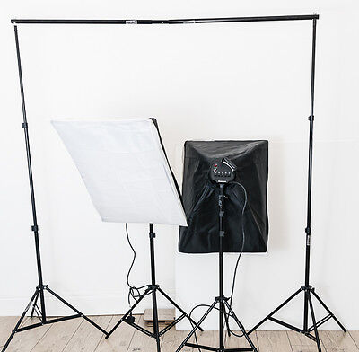 Studio Softbox continuous Lighting kit with backdrop stand
