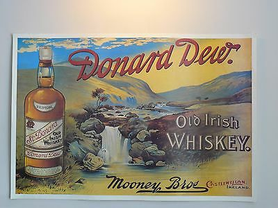 """Vintage 25x17""""/63x43cm Whisky Alcoholic Drinks Advertisement Poster for Framing"""